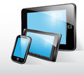 Set icon tablet smart phone mobile phone Stock Photos