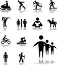 Set icons - 100. Pictographs of people Stock Photography