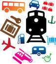 Set icons - 107C. Transport icons Royalty Free Stock Photos