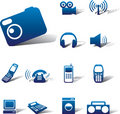 Set icons - 128A. Hi-tech and Digital Royalty Free Stock Photo