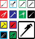 Set icons - 23B. Tools Royalty Free Stock Photo