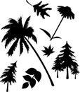Set icons - 5C. Nature Royalty Free Stock Photo