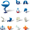 Set icons - 92A. Medicine Stock Photo