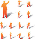 Set icons - 93A. People Stock Image