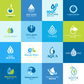 Set of icons for all types of water different Royalty Free Stock Image