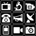 Set of icons (appliances, electronics) Stock Image