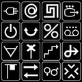 Set of icons (arrows, other) Royalty Free Stock Photography