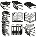 Set icons books vector graphic Stock Photo