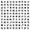Set of icons business icon in the vector illustration Stock Photos