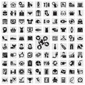 Set of icons clothing icon in the vector illustration Royalty Free Stock Image