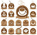 Set of icons for coffee shop Stock Image