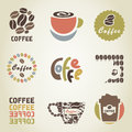 Set icons coffee theme vector illustration Royalty Free Stock Photography