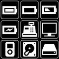 Set of icons (devices, electronics) Stock Photography
