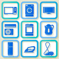 Set of icons of domestic appliances retro electric eps Stock Photo