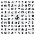 Set of icons education icon in the vector illustration Royalty Free Stock Photography