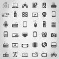 Electronics an icon Royalty Free Stock Photo