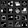Set of icons (equipment, electronics) Stock Images