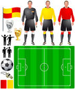 Set of icons for European football Royalty Free Stock Image