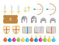 Set of icons fantasy a geometric classic elements found in and medieval settings this is an ai file that does not contain Royalty Free Stock Photography