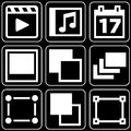 Set of icons (film, others) Royalty Free Stock Photos