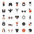 Set of icons fitness sports a vector illustration Stock Image