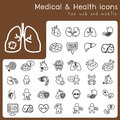 Set of icons for health and medical Stock Image