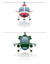 Set icons helicopter vector illustration Stock Images