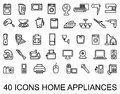 Set icons home appliances Stock Photo