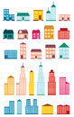Set of icons of houses vector Royalty Free Stock Photo