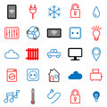 Set of 25 icons. Internet of things.
