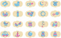 Set icons kids Stock Images