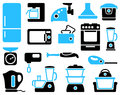 Set of icons kitchen home appliances Royalty Free Stock Photography