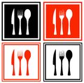 Set icons with kitchen ware Royalty Free Stock Photo
