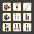 Set of icons makeup Royalty Free Stock Photo