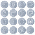 Set of icons on a medical theme