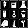 Set of icons (medicine, health) Stock Photos
