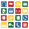 Set of icons for mobile devices vector illustration Stock Photos