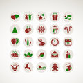 Set of icons for New Year and Christmas Stock Photos