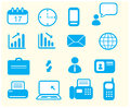 Set of icons in office Stock Photography