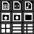 Set of icons (office, work) Royalty Free Stock Photography