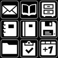 Set of icons (office, work) Royalty Free Stock Photo