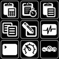 Set of icons (office, work) Stock Images