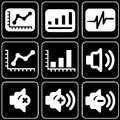 Set of icons (office, work) Royalty Free Stock Photos