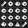 Set of icons (office, work) Stock Photo