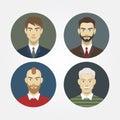 Set icons portraits of men closeup vector Royalty Free Stock Photography
