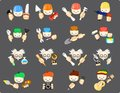 Set of icons of professions vector illustration Royalty Free Stock Images