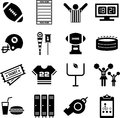 Set of icons related with american football Stock Photo