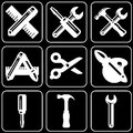 Set of icons (repair, build, construction) Royalty Free Stock Image