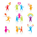 Set of Icons - Silhouette family Royalty Free Stock Photo