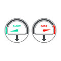 Set of icons of a speedometer